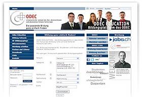 ODEC EDUCATION . die Bildungsplattform des ODEC mit Fokus auf Bildungsstufe der H�heren Fachschulen (HF)