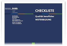BiBB - Checkliste �Qualit�t beruflicher Weiterbildung�